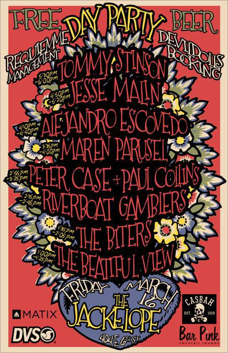 Requiemme Mgmt and Devil Dolls Booking present our 2012 SXSW Day Party (Free entry w/ RSVP on Do512)